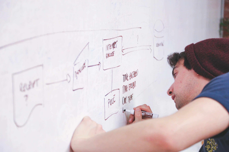 Entwickler in Start-up