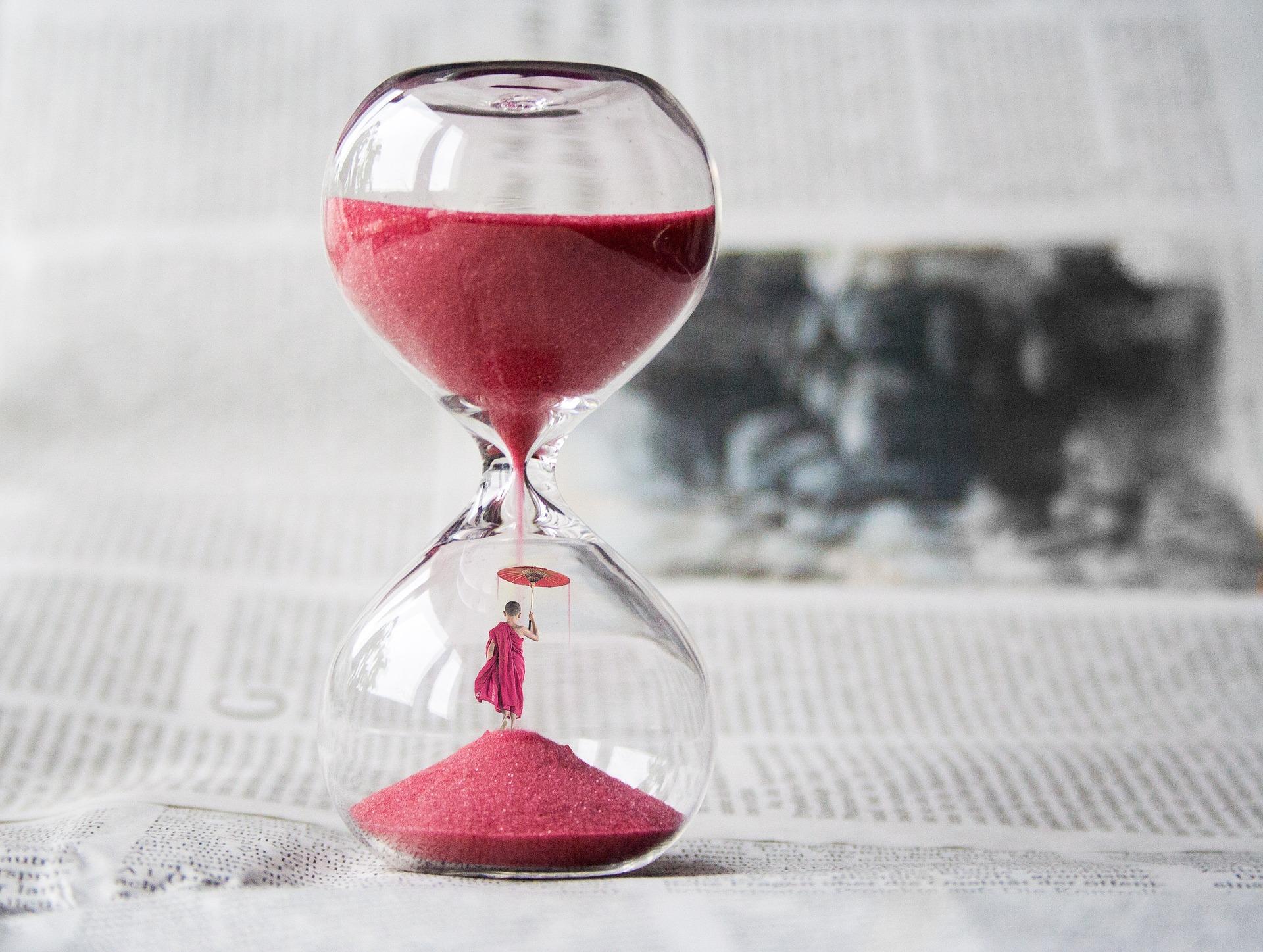 die Einstellung der Zeit: Sanduhr