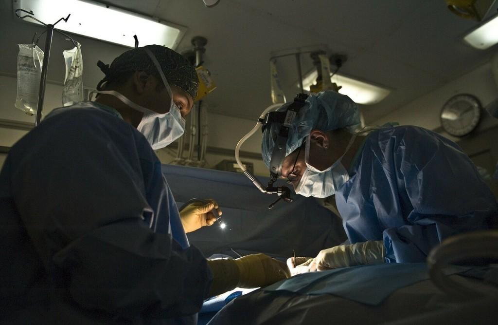 Sportverletzung im Spital operieren