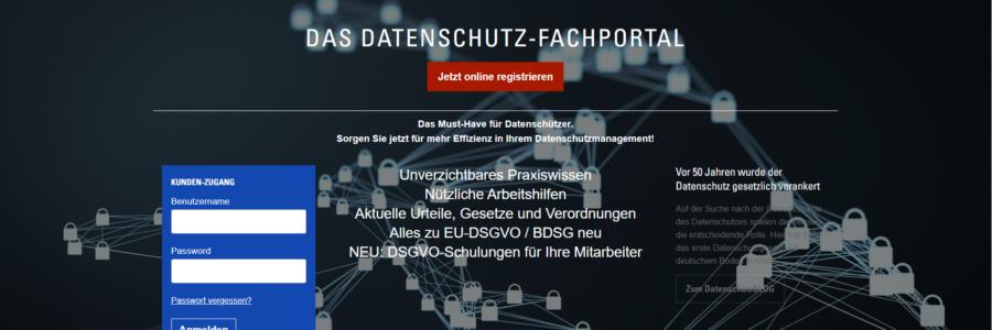 DS-Fachportal: Infos zu BDSG und DSGVO