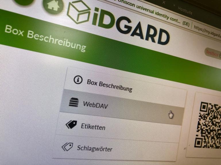 WebDAV iDGARD