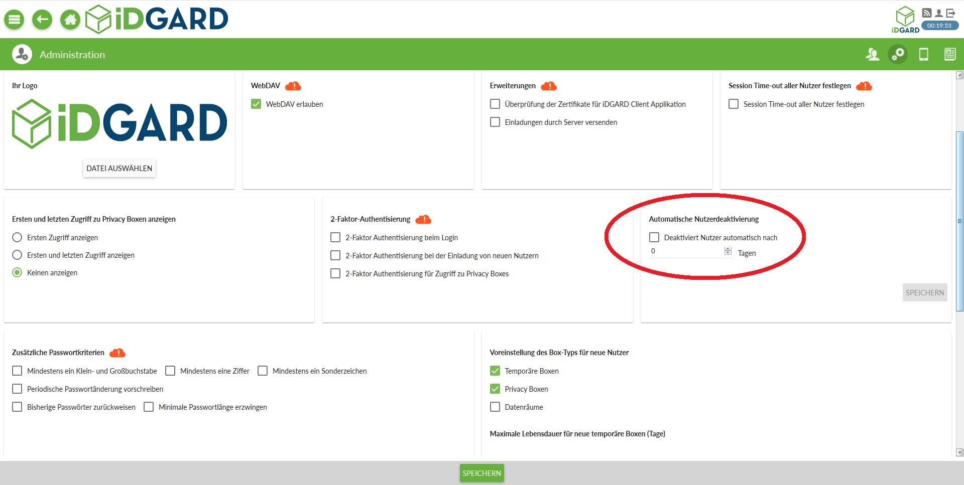Admin-Tools: Nutzer deaktivieren