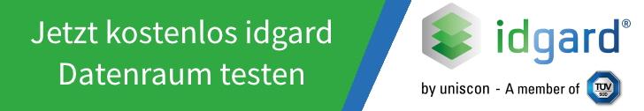 Virtueller Datenraum von idgard® - jetzt kostenlosen Test starten!
