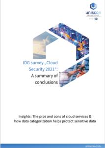 """IDG survey """"Cloud Security 2021"""""""